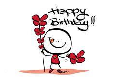 Happy Birthday by Christophe Boul, via Behance Happy Birthday Little Girl, Birthday Wishes Quotes, Happy Birthday Messages, Happy Birthday Images, Birthday Love, Happy Birthday Greetings, 50th Birthday, Happy B Day, Behance