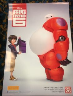 Authentic Big Hero 6 Movie Poster (2014) A group of six superheroes are recruited by the government to protect the nation.  Directors: Don Hall, Chris Williams Writers: Robert L. Baird, Daniel Gerson, Stars: Jamie Chung, T.J. Miller, Maya Rudolph soccer ball | superhero | marvel animated | marvel comics | based on comic book   Genres: Animation | Action | Comedy | Family