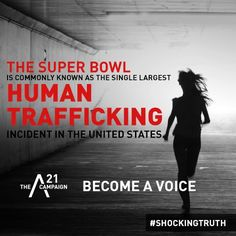 """This article talks about how it's not so much that people are brought into trafficking at the Super owl, but victims are brought into the Super Bowl for """"all men"""" at the event. Again, we see a theme of men as dominant (pimps, consumers) and women as tools for their sexual pleasure as victims. The victim/predator relationship is social, something learned by images, words, and gender roles."""