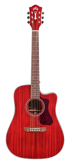GUILD D-120 in Cherry Red