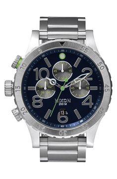 Nixon 'The 48-20' Chronograph Watch