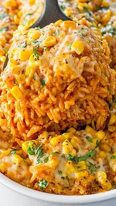 Chicken Enchilada Rice Casserole - Changes: Enchilada Sauce: 12OZ was enough for us. Frozen Corn instead of canned. I would suggest 2 things: 1) make 1.5 cups of each cheese. 2C total was not enough! 2) Bake for 25-30 mins. 20 mins was def not enough. Overall: Quick Recipe! I prepped during my lunch hour & finished once I got home. Simple Ingredients. Basmati rice was delishhhh! Finished product was amazing & we have the perfect ending: LEFTOVERRSSS