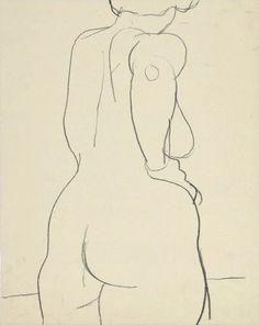 bofransson: Untitled (Female Nude) Richard Diebenkorn