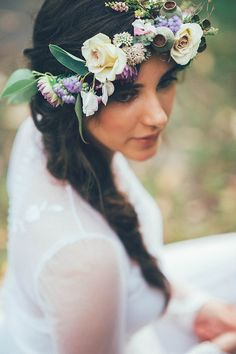 Gaia Photography, YOUNG collaboration shoot, Boho bohemian NSW Australia, Wedding Bridal styled photo, wedding ideas, Hello May magazine, floral Crown, Willowflowersbydesign, Michelle, boho chic wedding ideas