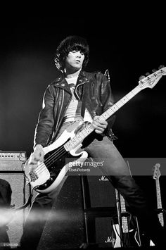 Dee Dee Ramone of The Ramones performing in Asbury Park, New Jersey on August 5, 1978.