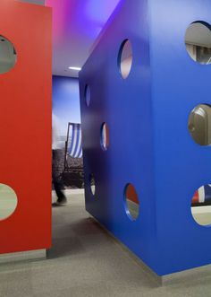 Google's New Vivid Office in London Featuring Telephone Booths, Giant Dice and Beach Huts