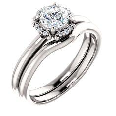 0.50 Ct Round Diamond Engagement Ring 14k White Gold – Goldia.com
