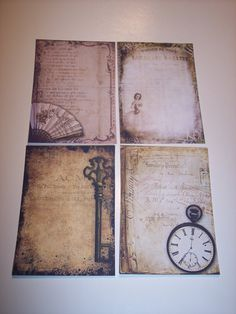 Vintage Steampunk Ephemera Journaling Tags set of 8 by mreguera, $5.00