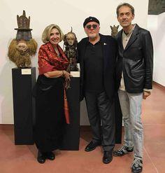 Omar Ronda,Bruno Albertino e Anna Alberghina.Mostra Arte africana al Macist di Biella.