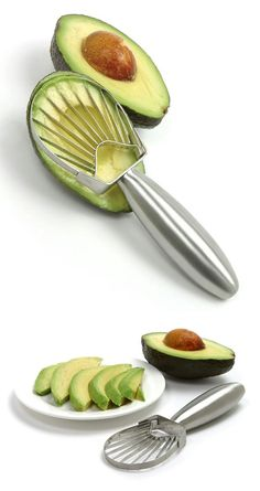 Stainless Steel Avocado Slicer. I NEED THIS.