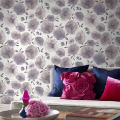 Graham & Brown, 56 sq. ft. Poppies Lavender Wallpaper, 32-466 at The Home Depot - Mobile