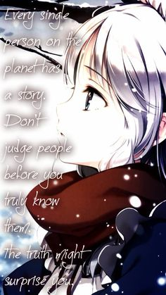 Sad anime quote girl