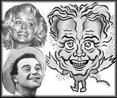 Aquarius caricature and photos of Jack Lemmon, Farah Fawcett #Wodnik #Aquarius