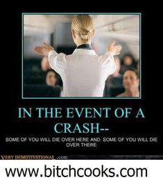 What flight attendants should say