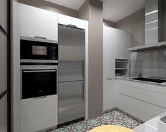 Cocina Santos Modelo Line Estratificado Blanco y Fresno Encimera Silestone Blanco