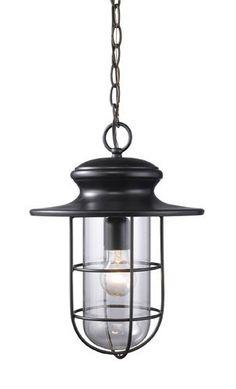 ELK Lighting 42286-1 Portside One Light Outdoor Pendant In Matte Black