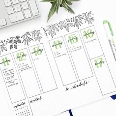 Bullet journal inspiration and layout ideas Bullet Journal Inspo, Planner Bullet Journal, Bullet Journal Ideas Pages, Bullet Journal Spread, Bullet Journal Layout, Journal Pages, Bullet Journal Numbers, Bullet Journal Leaves, Bullet Journal Ideas Handwriting