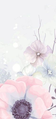 Iphone 7 Wallpaper Backgrounds, Pastel Background Wallpapers, Whatsapp Wallpaper, Pretty Wallpapers, Flower Backgrounds, Vintage Backgrounds, Watercolor Wallpaper Iphone, Floral Wallpapers, Vintage Wallpapers