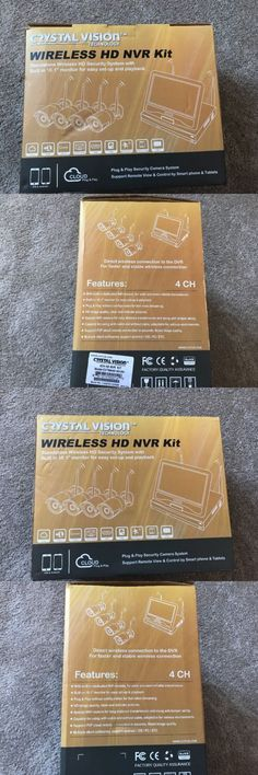 Surveillance Security Systems: Crystal Vision 2Tb 4 Ch All-In-One True Hd Wireless Surveillance System Nvr Cctv -> BUY IT NOW ONLY: $229.99 on eBay!