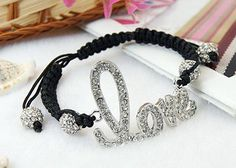 Fashion Shamballa Bracelets, with Alloy Rhinestone Findings