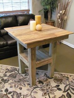 Bar Height Table / Reclaimed Wood - Other Sizes Available Pub Table And Chairs, Dining Room Table, Pub Tables, Kitchen Tables, Outdoor Tables, Outdoor Spaces, Diy Pallet Furniture, Handmade Furniture, Kitchen Furniture