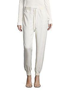 Polo Ralph Lauren Satin Jogger Pants - Chic Cream - Size