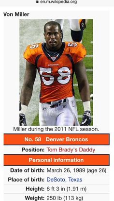 Von Miller Given A New Position On Wikipedia After Game Against Patriots [VIDEO,PHOTO] | FatManWriting