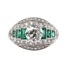 Edwardian Era Bombe Style Old European Cut Engagement Ring | Princethorpe from Trumpet & Horn