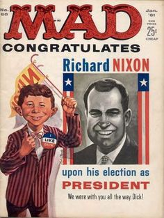 Cover for Mad #60 (January 1961), Richard Nixon variant.