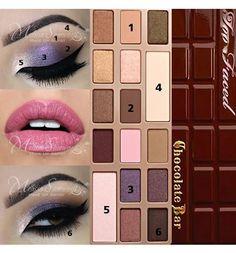 Too Faced Chocolate Bar purple look