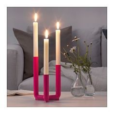 IKEA - IKEA PS 2017, Candlestick for 3 candles, The candlestick give both an atmospheric light and is beautiful in its own right.