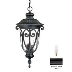 Acclaim Lighting�Naples 24-1/2-in Matte Black Outdoor Pendant Light