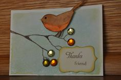 perched bird ATC by jfm4Him, via Flickr