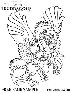 100 dragons for coloring get the book here httpamzn