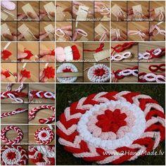 Todo crochet: Cómo tejer un tapete muy original
