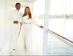 """Tina Knowles (Beyoncé's mom) gets the #SlayedIt prize today for the amazing gown she wore for her wedding to actor Richard Lawson. No, it's not House of Deréon—it's Romona Keveza (looks to us like they added sleeves or a bolero to one of her spring 2015 designs, and it totally works). We like it almost as much as Solange's caped gown! (Sorry, Bey, you may say you're not a """"traditional woman,"""" but your bridal attire said otherwise.) -  (The Best Dressed of the Day) #SlayedIt"""