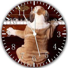 "English Bull Dog Piano Wall Clock 10"" Will Be Nice Gift and Room Wall Decor W333 Ikea http://www.amazon.com/dp/B00UF8SRAM/ref=cm_sw_r_pi_dp_BAt.ub0VR6YFT"