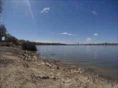 Looking south over Lake Monger towards the Perth CBD and skyline.