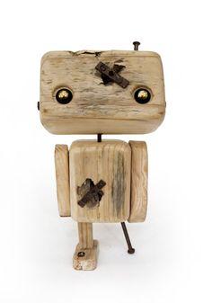 Roboter in Recycling-Holz die gepatchte bis von 56Phalanges