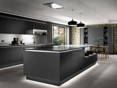 42 Contemporary Kitchen Cabinets Latest Trends No Longer A Mystery 48 Luxury Kitchen Design, Kitchen Room Design, Kitchen Cabinet Design, Luxury Kitchens, Interior Design Kitchen, Kitchen Cabinetry, Kitchen Ideas, Modern Kitchens, Contemporary Kitchen Cabinets