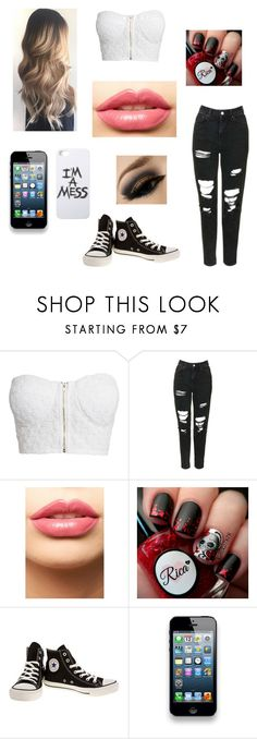 """I'm a mess"" by minette-tjarnlund ❤ liked on Polyvore featuring NLY Trend, Topshop, LASplash, Converse and LAUREN MOSHI"