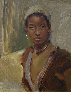 Johanna Harmon 1968 | American Figurative painter | Spring's Warmth
