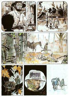 Ken Parker, Hugo Pratt, Cowboys & Aliens, Comic Frame, Josie And The Pussycats, Western Comics, Comic Panels, Illustration Art, Art Illustrations