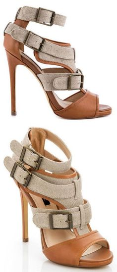 Tri-Buckle Strappy Heels ♡