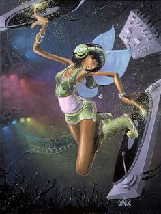 tinkerbell by David Garibaldi. I love this painting. I need to find it somewhere and buy it