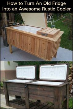 Hmm, do you think this cooler can get any more better? Hmm, do you think this cooler can get any mor Pallet Cooler, Patio Cooler, Diy Cooler, Outdoor Cooler, Outdoor Fun, Outdoor Decor, Outdoor Buffet, Outdoor Bars, Pallet House