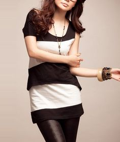 One Sleeve Colorcontrast Tee