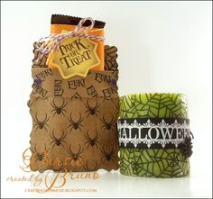 cute Halloween ensemble using @Spellbinders Labels Twenty-Nine with JustRite Papercraft Spider Web Background and Boo-tiful Cameos