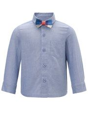 Chambray Shirt And Bow Tie from Monsoon Children #monsoonchildren #saddlecreek