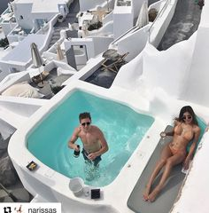 Luxury Suites Santorini combines a world of beauty and tradition! Vacations To Go, Vacation Places, Vacation Destinations, Dream Vacations, Vacation Trips, Places To Travel, Vacation Ideas, Small Backyard Pools, Small Pools